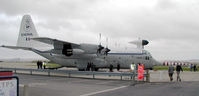"Met Office C-130 ""Snoopy"" at its retirement (courtesy of Mike Grierson, G3TSO)"